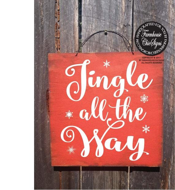 christmas, christmas decorations, christmas decor, jingle all the way, jingle bells, jingle bell decor, jingle bell sign, santa wall art