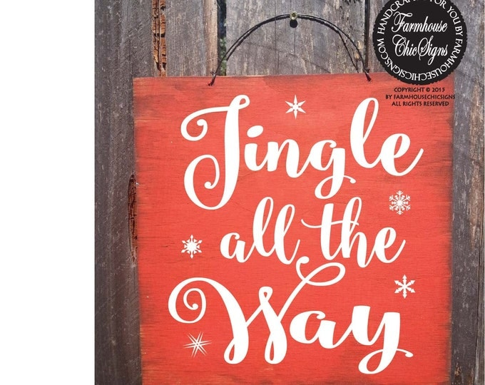 christmas, christmas decorations, christmas decor, jingle all the way, jingle bells, jingle bell decor, jingle bell sign, santa wall art