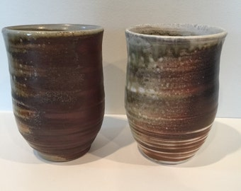 Set of Wood Fired Stoneware Cups