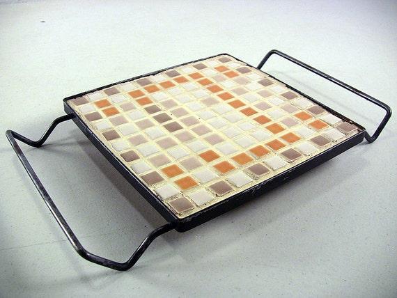 Vintage Tile Trivet Mosaic Tile Trivet By Eclectiquesboutique