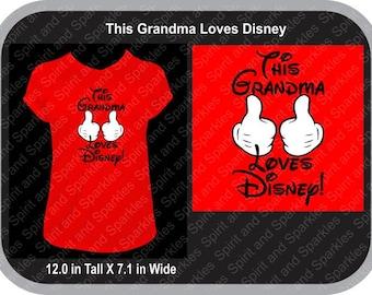 This Grandma Loves Disney T-Shirt, Tank or Hoodie
