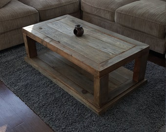 Coffee Table, Reclaimed Wood Coffee Table, Vintage Table, Rustic Table,  Grey Wood