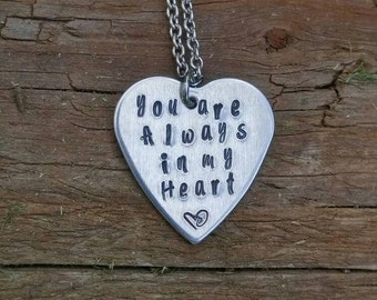 You are always in my heart necklace
