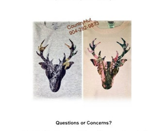 T-SHIRT - DEER HEAD mossy oak - Hunting gaming bow and arrow - yth xSmall to adult 6xLg