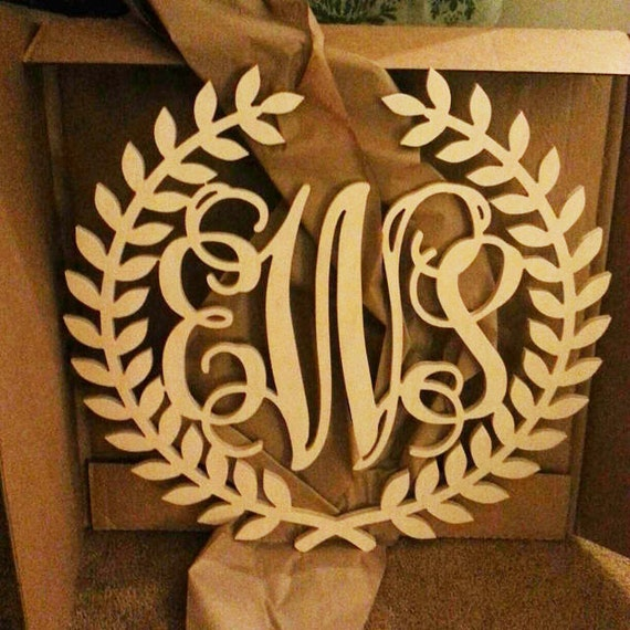 Monogram Front Door Decoration: Monogram Wreath Front Door Decoration Front Door Wreath