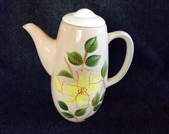 Mid-century Kanedai Pixie Gold ceramic coffee pot