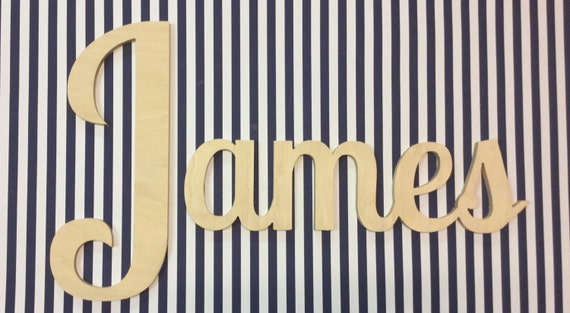 Connected name Wall Letters Kids Room Decor Baby and Children Nursery Decor
