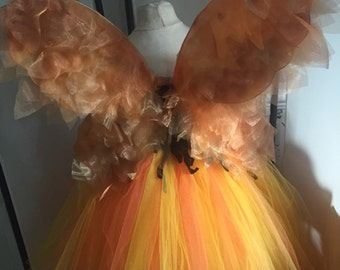 fairy wings for autunm fall faery earth fairy tutu Hettie harvest bean faerie cosplay dress