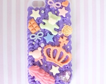 Sweet Magical Princess Sweet Deco Kawaii Decoden iPhone case accessory for iPhone 5 or 5s (Ready to ship)