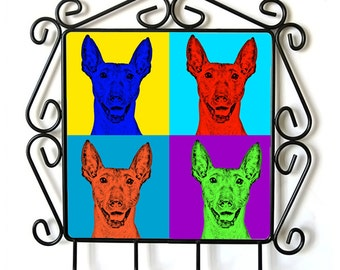 Xoloitzcuintle- clothes hanger with an image of a dog. Collection. Andy Warhol Style