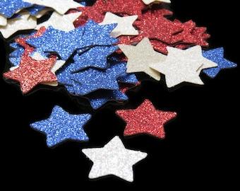 patriotic star confetti, military wedding decorations, 100CT, 4th of July, fourth, graduation, boot camp, deployment, Americana decor