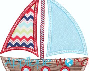 Sailboat Applique Embroidery