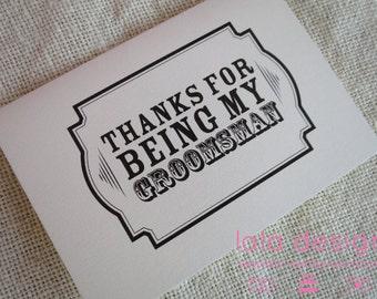 Thank You Groomsman - Attendant Card