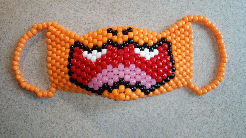 Pokemon's Charmander Kandi Mask, Kandi Surgical Mask, Pokemon Kandi Mask,  Charmander Kandi Mask