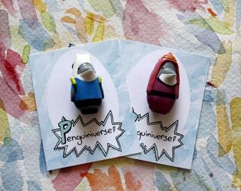 Penguiniverse Adventure Time badge/brooch