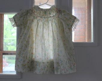 Calico Polly Flinders hippie, boho 24 mos. smocked dress