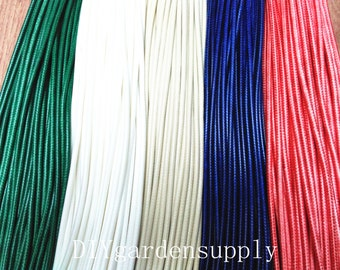 15pcs 17-19 inch adjustable(5 colors)Waxed Cotton Cord necklace including lobster clasps and extention chains size 5.0mm