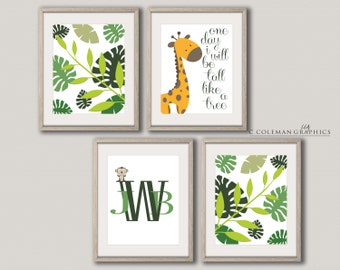 Jungle Nursery/Child Room -- Custom Wall Art Decor -- Digital File ONLY