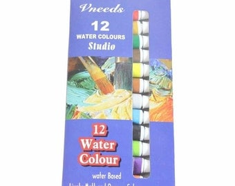 Watercolour Quality Artist Paint set of 12, 9ml Tubes MQ-015