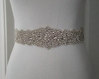 SALE - Wedding Belt, Bridal Belt, Sash Belt, Crystal Rhinestone Belt, Style 110