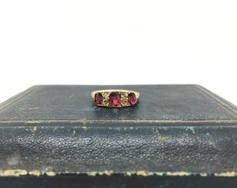 Edwardian Garnet Ring