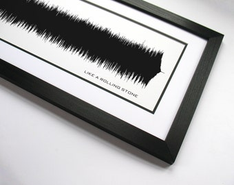 Like a Rolling Stone - Music Art Sound wave Print - Song Lyric Art, Artist Poster