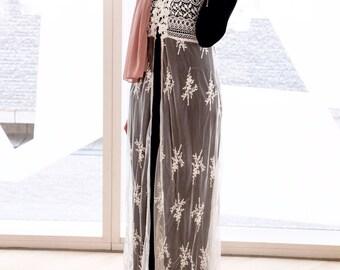 Lace Crochet Maxi Vest