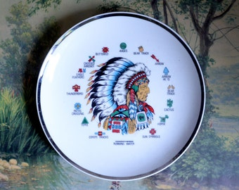 Cool Vintage Plate with Native American