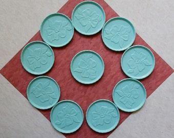 Vintage Plastic Turquoise Coasters