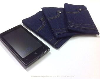 Handmade Denim Cell Phone Holder