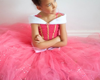 Sleeping Beauty ,Princess Aurora Inspired Tutu Dress,Party,Prom with Crystal Brooch! Various Sizes.