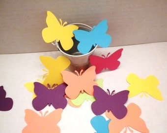 50 Butterfly Die Cuts-Butterflies, Die Cuts, Scrapbooking, Embellishments, Flower Die Cuts