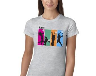 I Am Volleyball Grey Juniors Longer Length T-Shirt