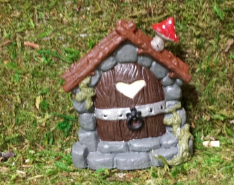 Rustic Fairy door, Gnome door, mouse door