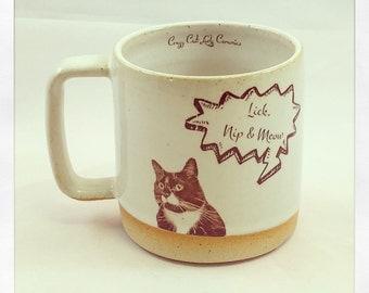 "Monkey"" Lick, Nip & Meow"" Mug"
