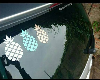 Pineapple decal | pineapple car decal | car sticker | pineapple| car decals for her | girly car decals | window stickers | sweet decals