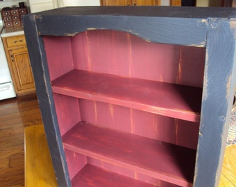 Primitive Wall Cupboard in Your Choice of Color and Finish, Sitting cupboard, Storage Cupboard, Hanging Cupboard