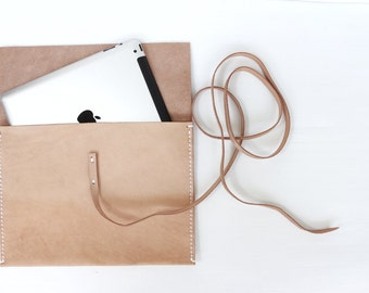 Laptop Case, Laptop Sleeve, Vegetable Tanned Leather, Macbook 11' 12' 13.3' 15', iPad Cover