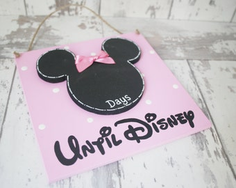 Days Until Disney Plaque~Handmade countdown Plaque~Holiday countdown~Chalkboard Plaque~Disney countdown~Vacation Countdown~Disney World