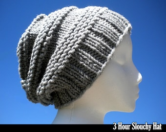 3 Hour Slouchy Hat Knitting Pattern