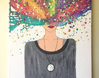 "Melted Crayon Art ""Overthinking"""