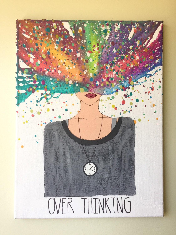 Melted Crayon Art Overthinking