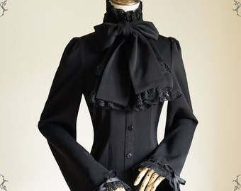 Exclusive Designer Fashion, Neo-ludwig Pirate Gothic Ouji Prince Stand Up Collar Blouse Cravat & Jabot