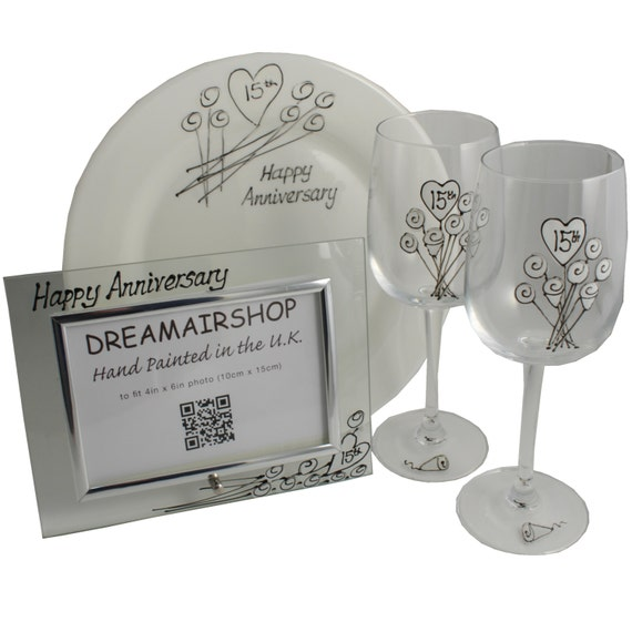 Fifteenth Wedding Anniversary Gifts: Items Similar To PERSONALISED 15th (Crystal) Wedding