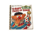 Vintage Little Golden Book, The Many Faces of Ernie, Vintage Sesame Street Book, Bert and Ernie, 1979 Printing, Children's Book