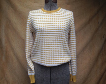 Vintage Yellow Sweater // Barclay Knitwear Pullover