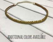 Child/Teen/Adult Leather Braided Headband (faux suede, boho chic, vintage)