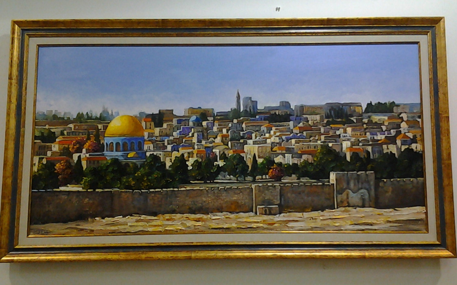 Jerusalem painting oil painting israel landscape view jewish for Israeli artists oil paintings