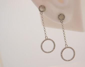 0.25 Carat T.W. Ladies Round Cut Diamond Earrings 14K White Gold