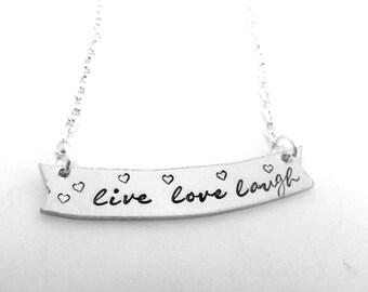 Live Love Laugh Banner Necklace